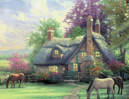 A Thomas Kinkade Painting