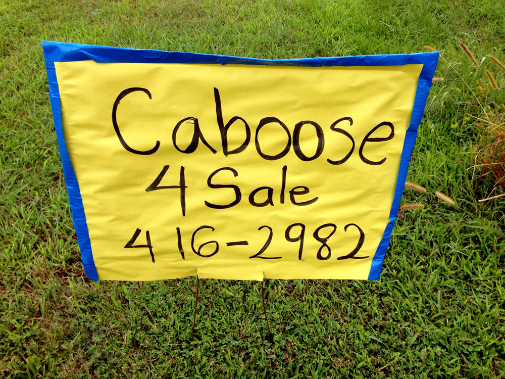 Into the Woods › Caboose for sale