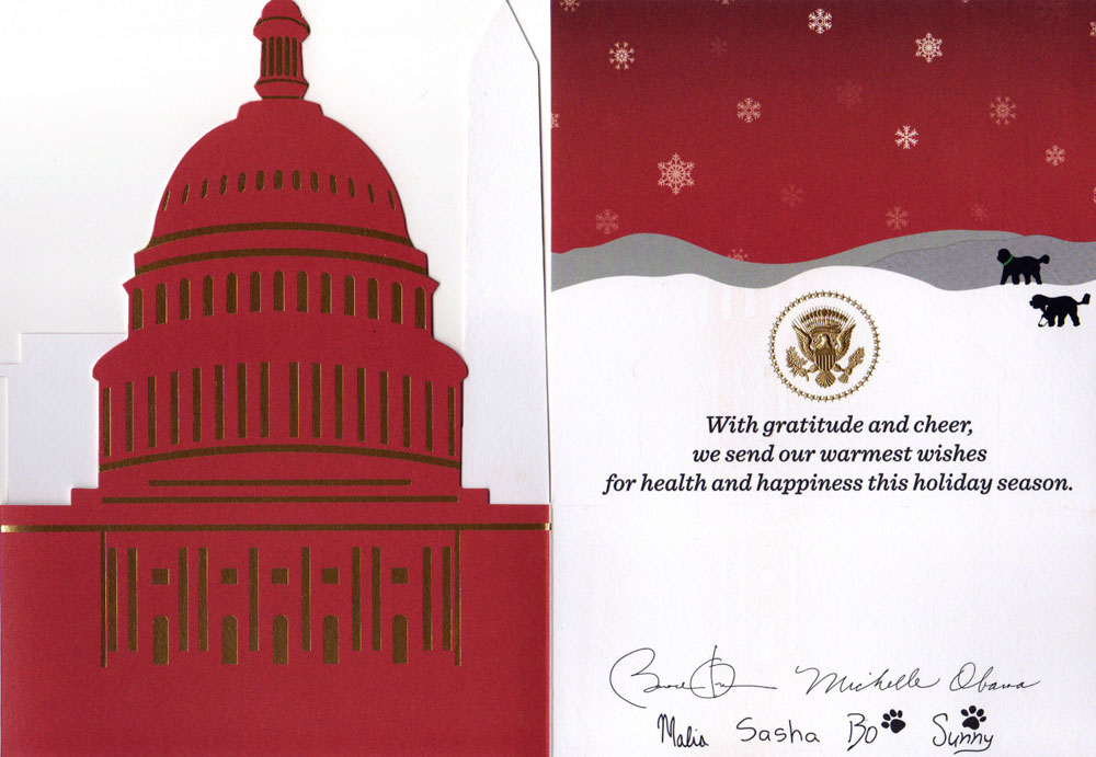 Into the Woods › A White House Christmas card
